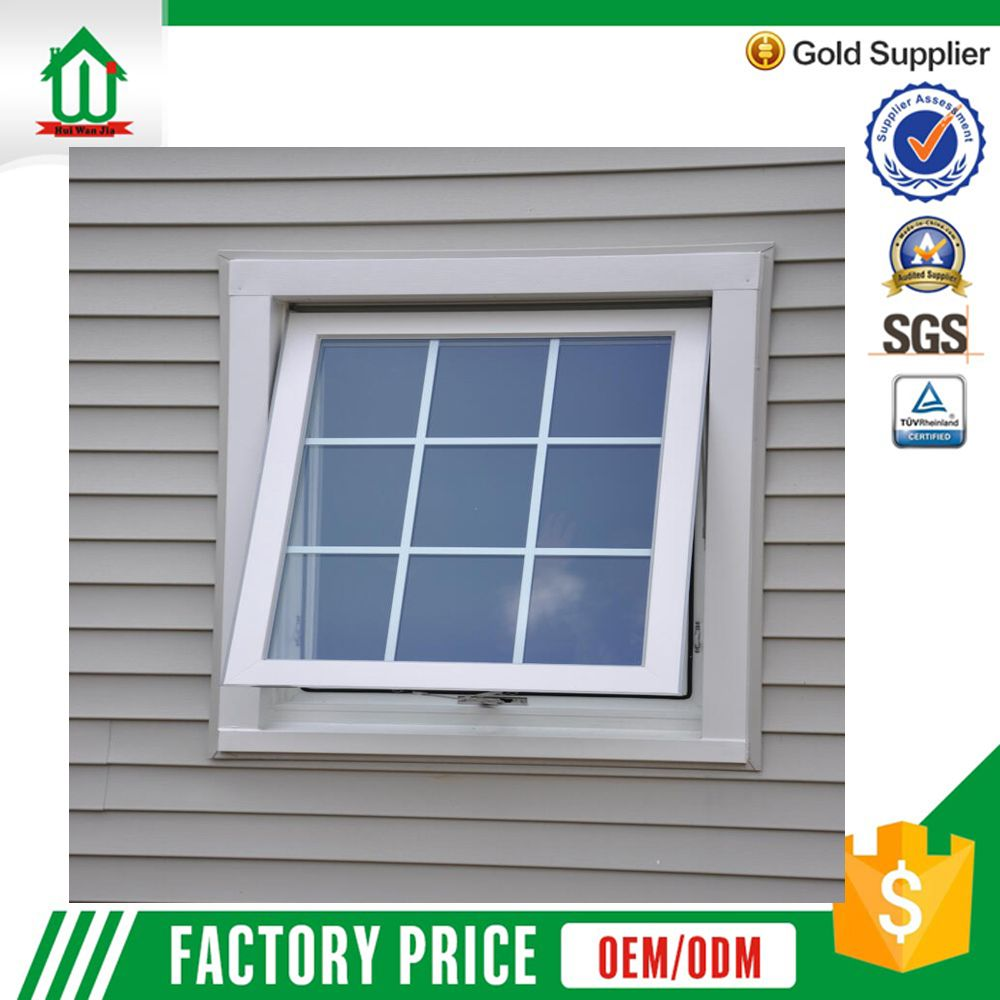 Double Glazed Aluminum Awning Window With Grill