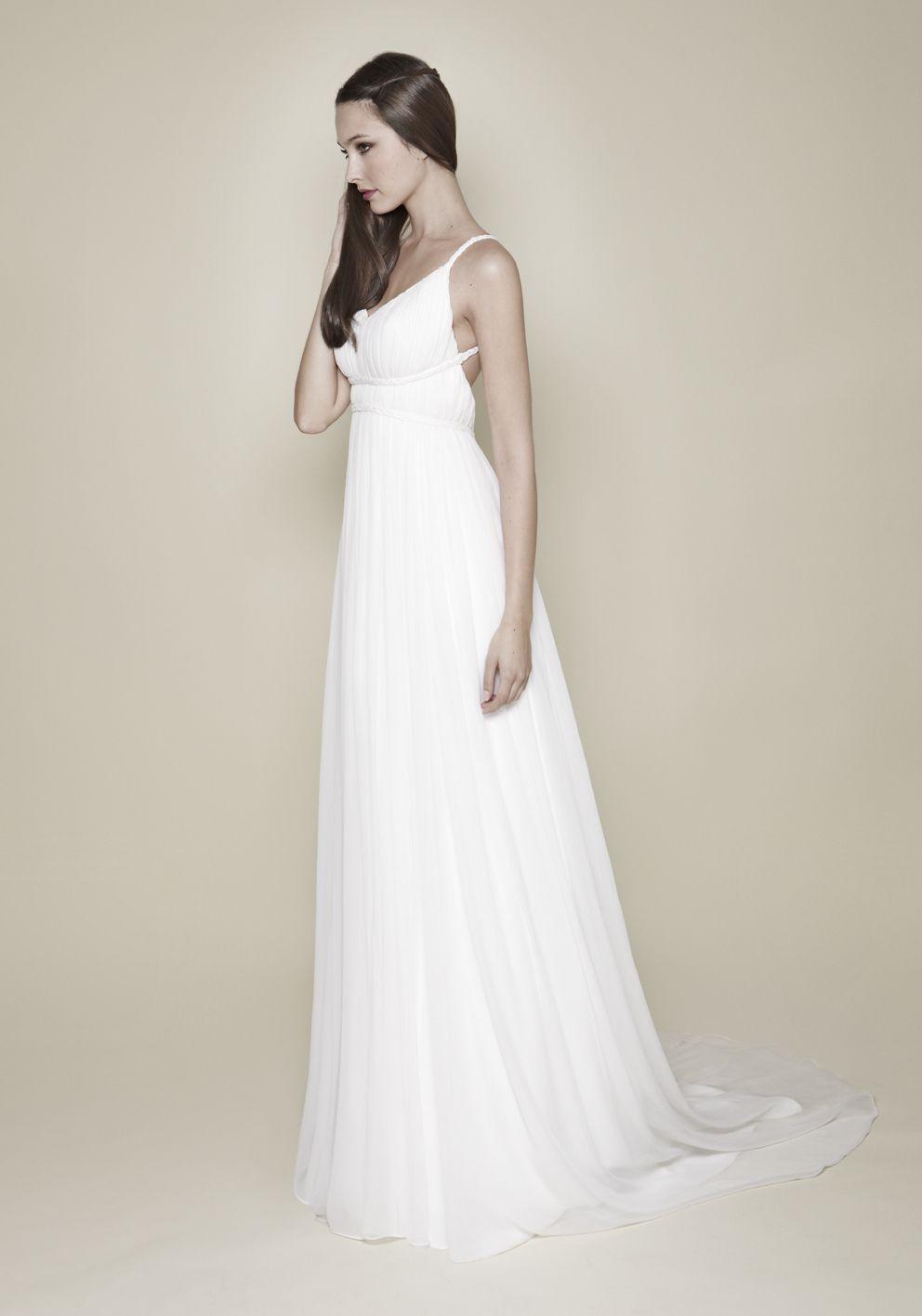 Silk Chiffon Ancient Greek Wedding Dress by Christos Costarellos ...