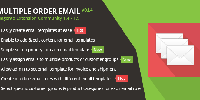 Multiple Order Email Magento Extension Creating Emails Professional Magento Email Templates Create Email Template