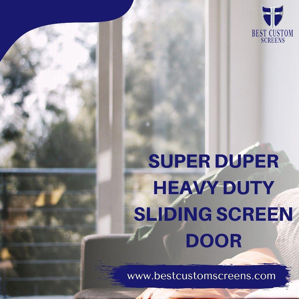 Heavy Duty Sliding Screen Door In 2020 Sliding Screen Doors Sliding Glass Door Screen French Doors With Screens