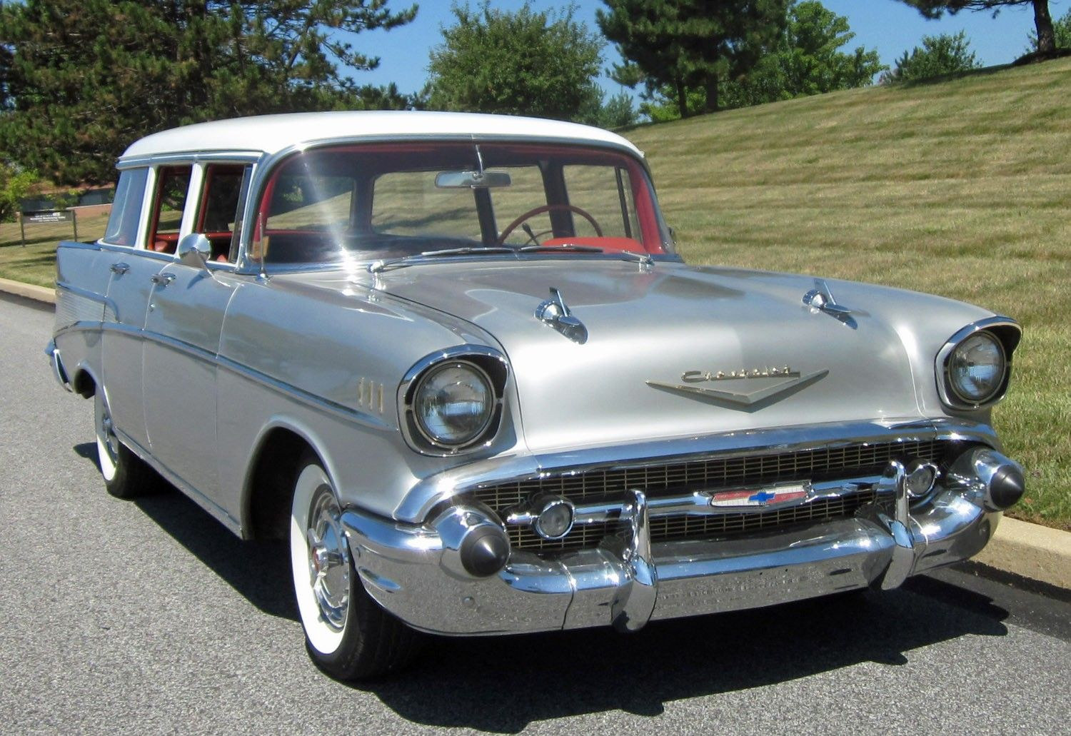 All Chevy 1957 chevy wagon for sale : 1957 Chevy For Sale | 1957 Chevrolet Bel Air Wagon Silver, for ...