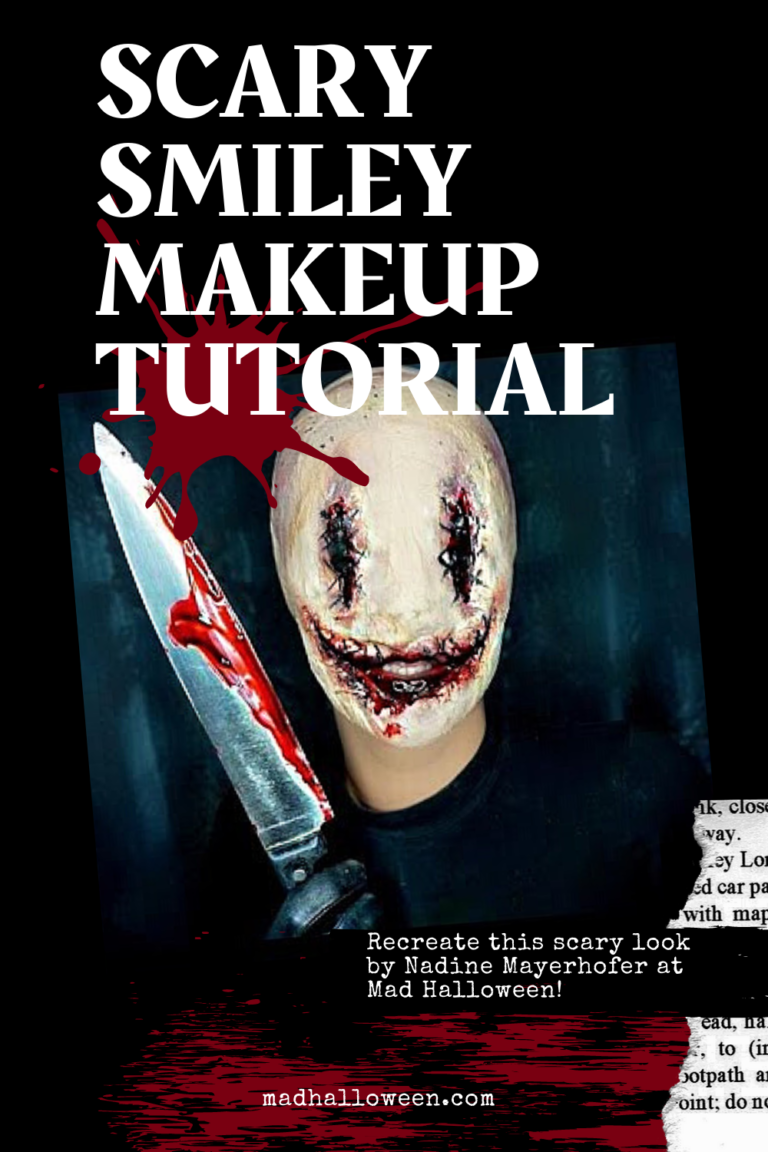 Scary Smiley Makeup Tutorial Mad Halloween Holloween Makeup Makeup Tutorial Halloween Makeup Scary