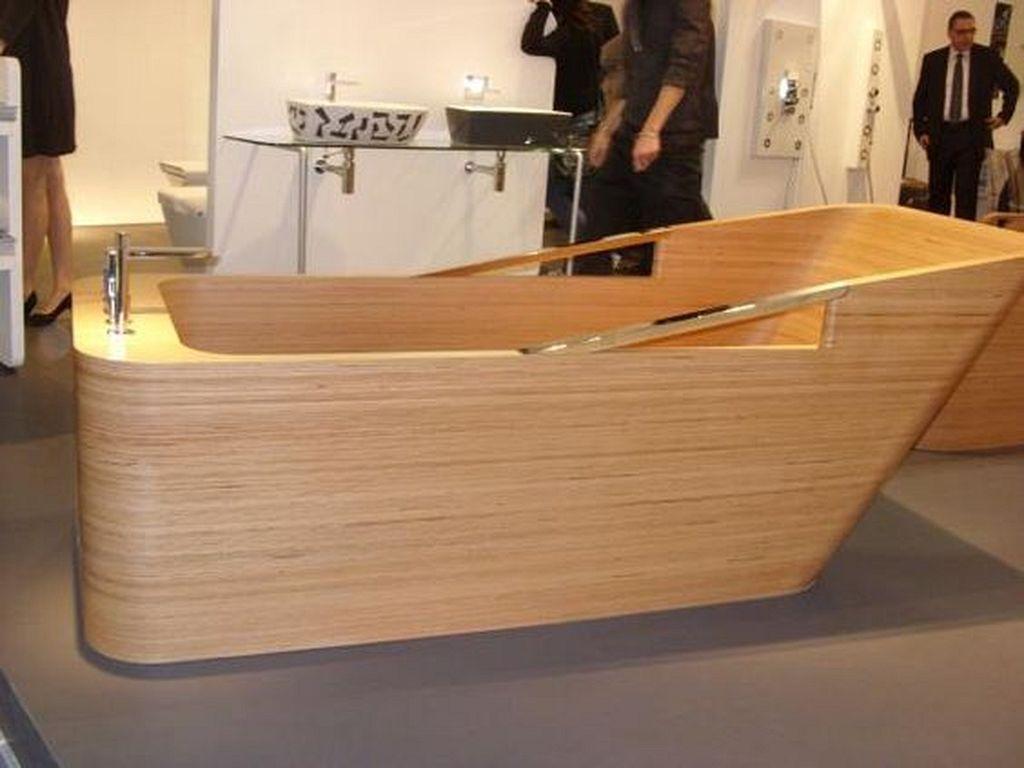 24 Diy Wooden Bathtub Design Ideas To Get Warm And Cozy Atmosphere