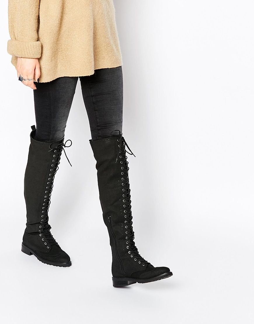 More my style of knee high boot! More punky but with subtle brogue ...
