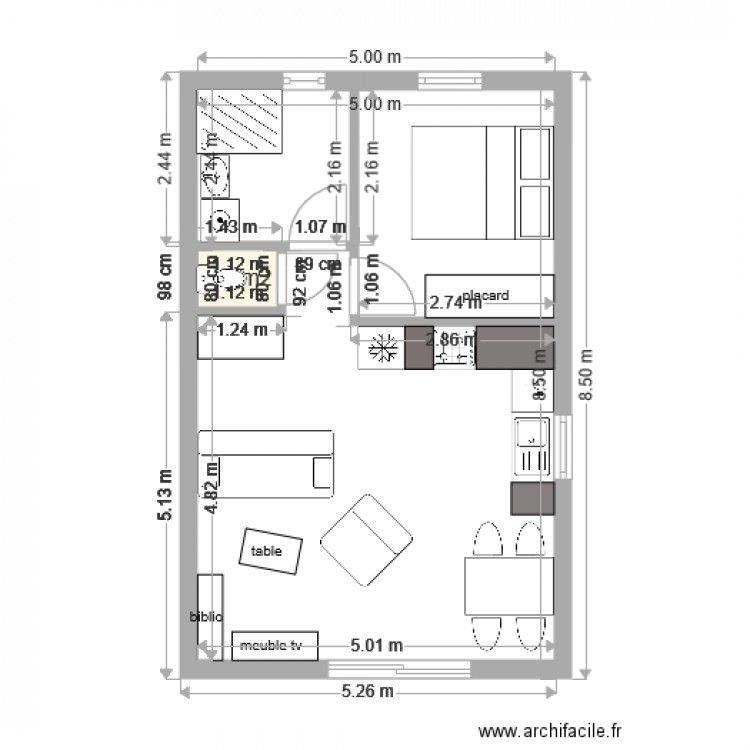 Plan Maison 40m2 Plan Maison Petit Appartement Salon Maison