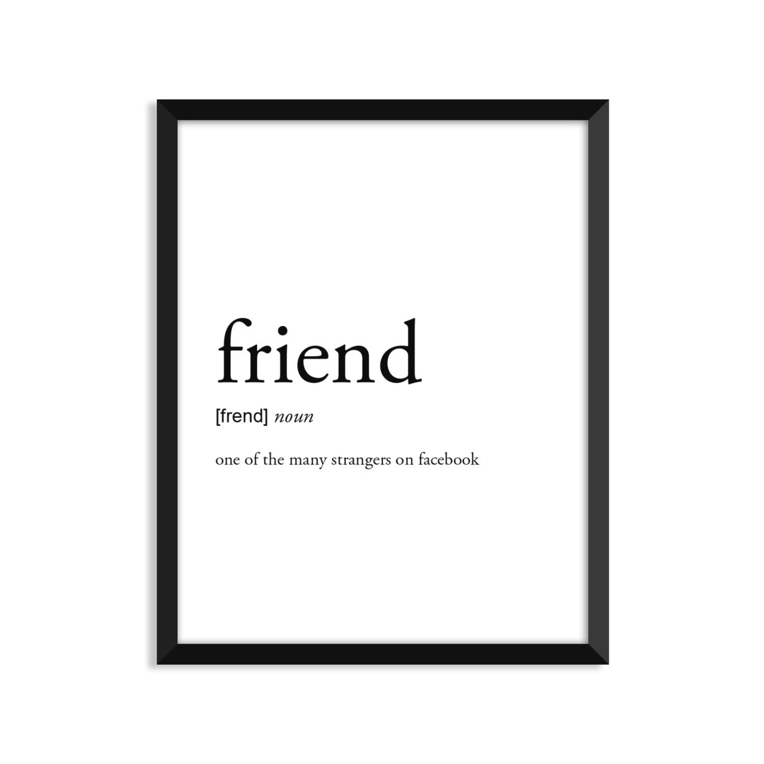 Friend Definition, College Dorm Room Decor, Dorm Wall Art ...