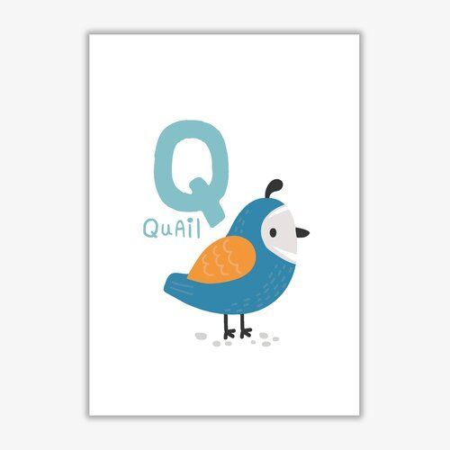 East Urban Home Poster Animal alphabet, Q stands for Quail (quail) | Wayfair.de#alphabet #animal #east #home #poster #quail #stands #urban #wayfairde