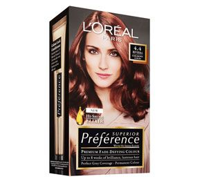 Loreal Preference 4 4 Dark Auburn Brown Hair Color Short Hair Color Highlights Short Curly Hair Black
