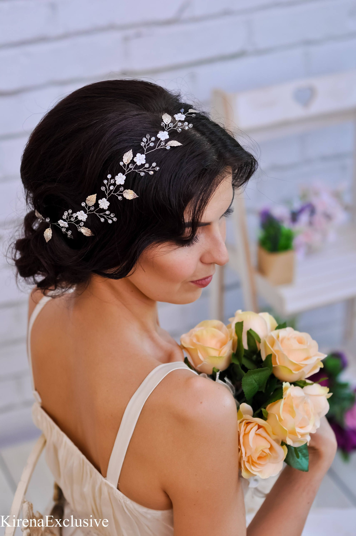 Bridal flower crown wedding bridal hair vine bridal headband wedding bridal flower crown wedding hair vine white flower crown izmirmasajfo