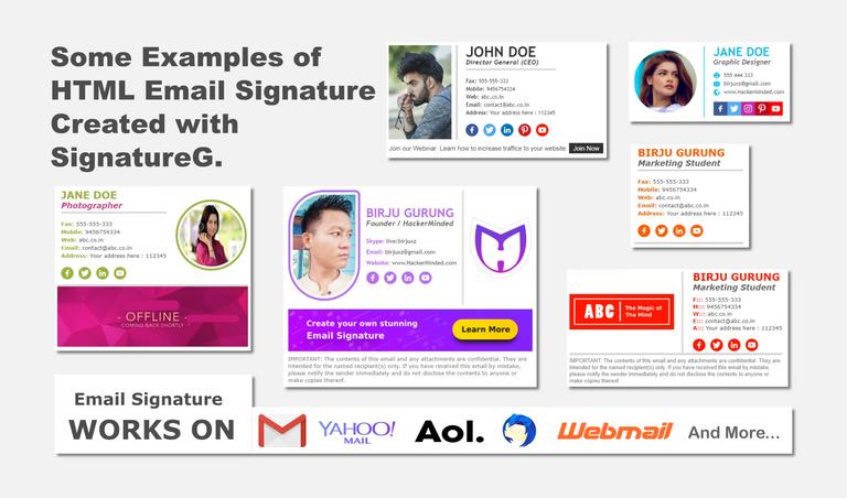 Top 5 Free Email Signature Generators Signature