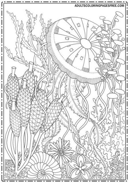 Special Coloring Pages For An Adults With A Nature Theme Coloring