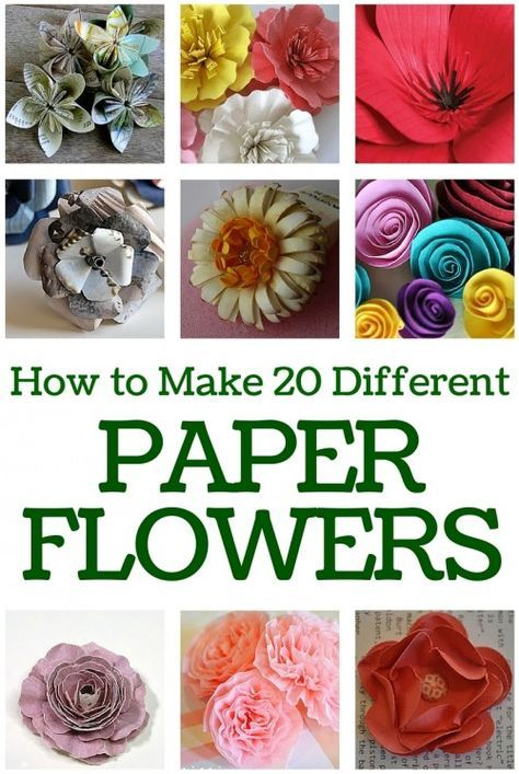 How To Make 20 Different Paper Flowers General Pinterest Paper