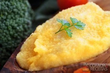 Receita de Polenta mole tradicional em receitas de salgados, veja essa e outras receitas aqui!
