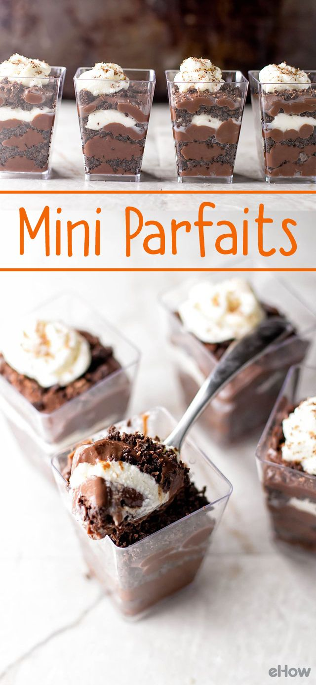How to Make Mini Chocolate Pudding Parfaits