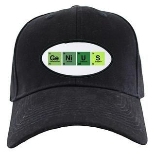 Artsmith Inc Black Cap (Hat) Genius Periodic Table of Elements Science Geek Nerd