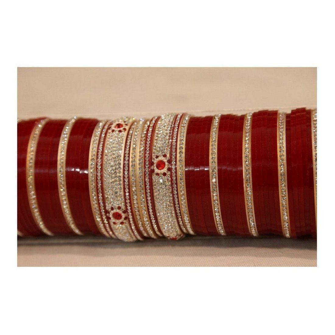 punjabi bridal chura bangles with 4 kadas price 3 400inr