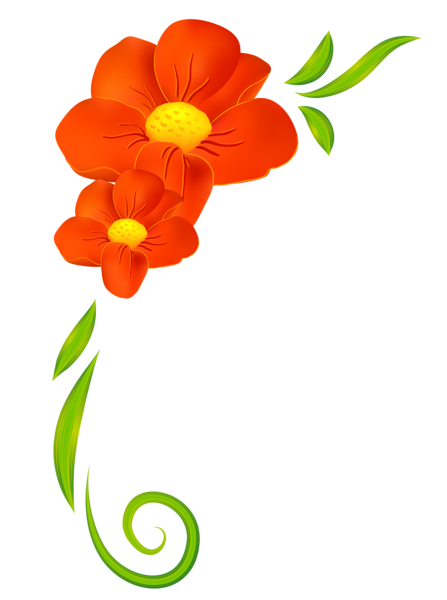 Orange Flower Decor PNG Clipart | Çerçeve | Pinterest | Gräser ...