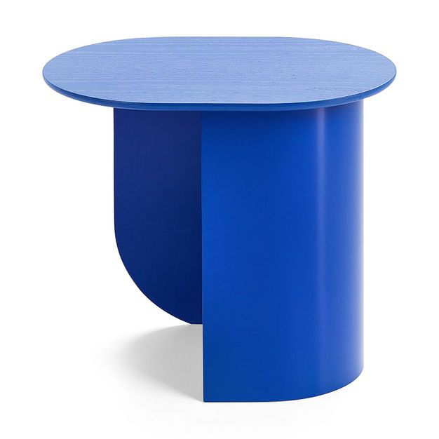 Plateau Side Table In Color Blue Maximalist Decor Side Table Furniture