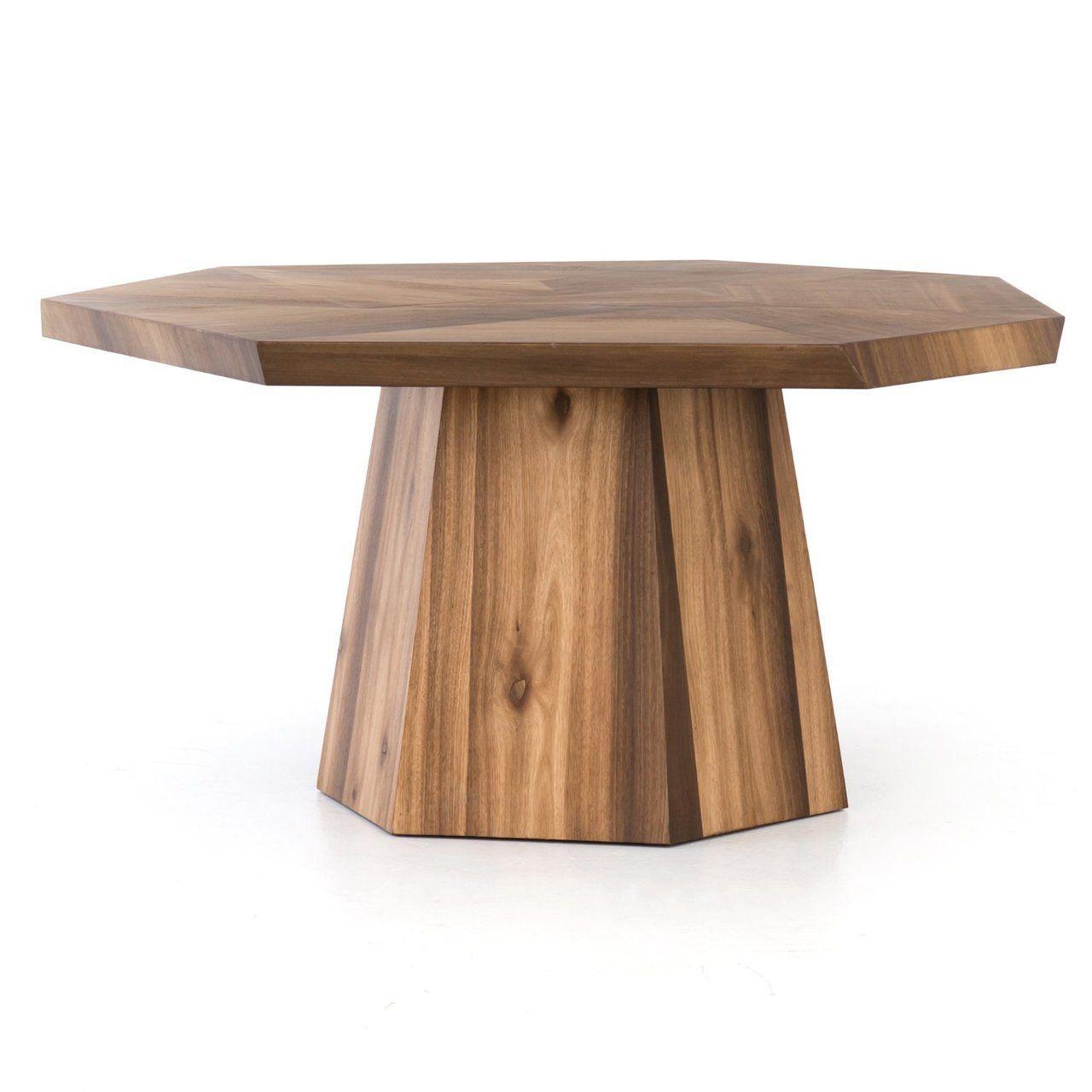 Brooklyn Organic Yukas Wood Octagon Dining Table 60 Round Wood