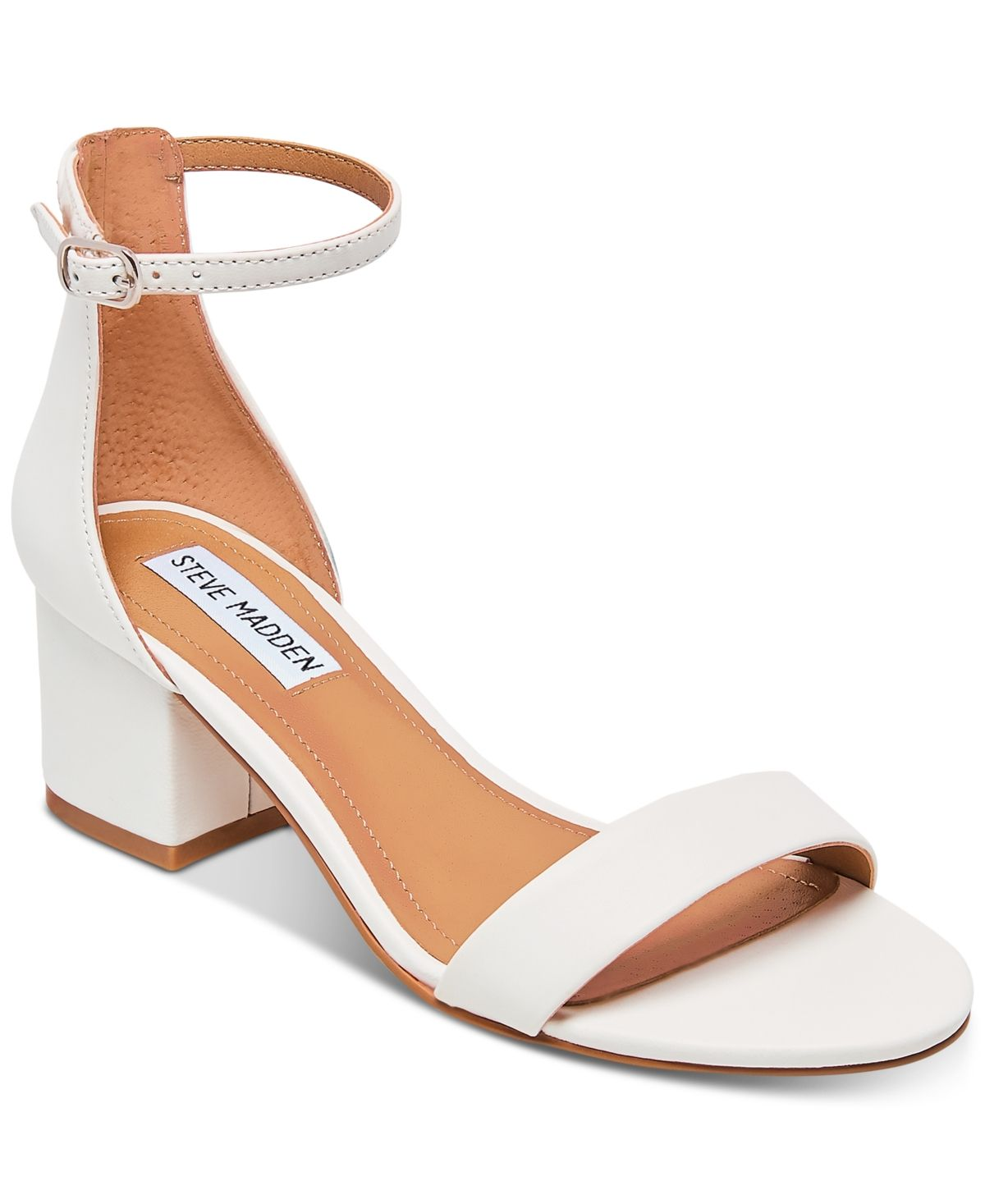 Steve Madden Women's Irenee Block Heel Sandals White