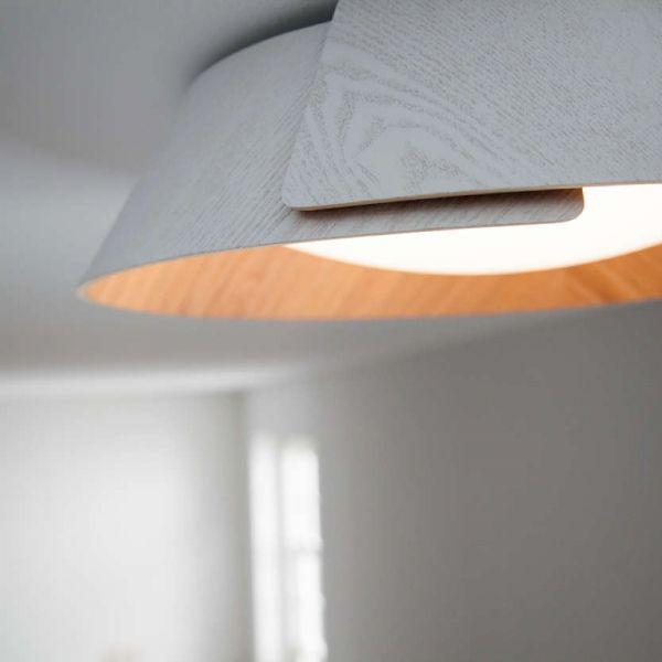 InStyle LED Deckenleuchte Nonagon in weiß aus Holz Deckenleuchten