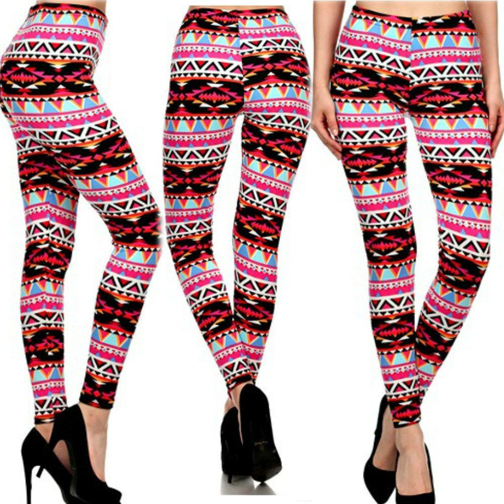 Women Fit Length Multicolor Printed Skinny Stretchy Pencil Jeggings Leggings