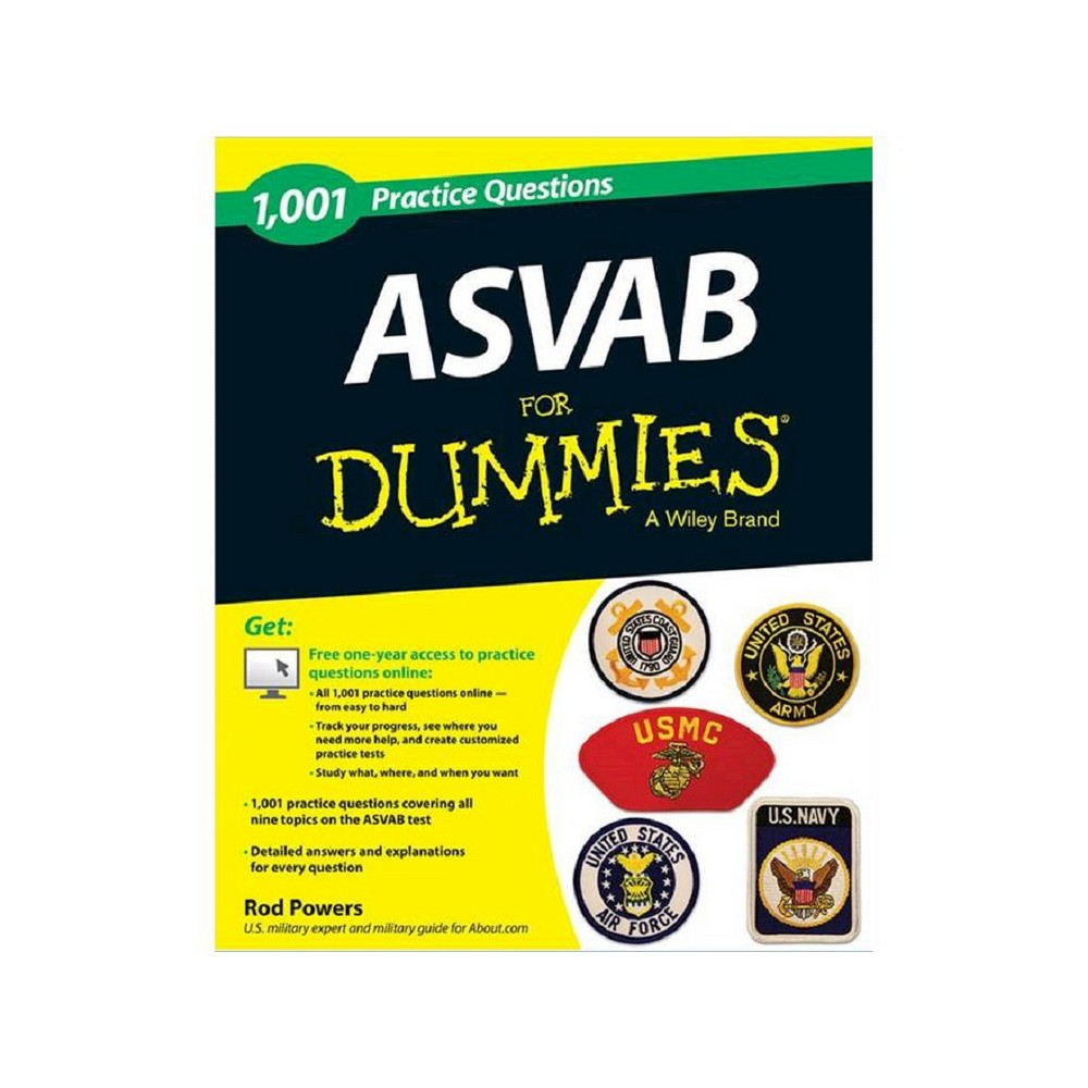 1,001 Asvab Practice Questions for Dummies (Paperback) (Rod Powers)