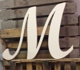 wedding guest book wooden letter m large 24 by asimpleplaceonmain