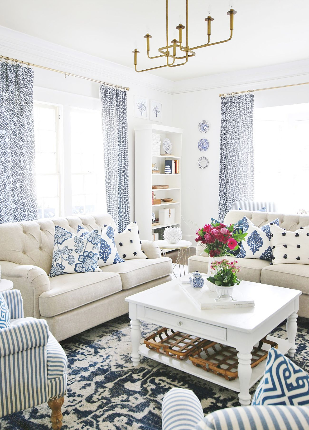 How To Pick Paint Colors For An Entire House | Blue, white ...