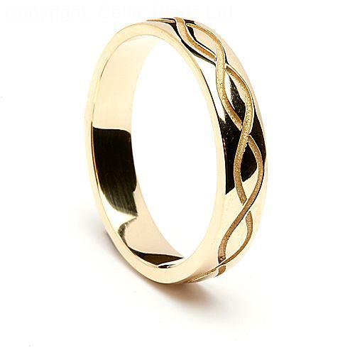 Engraved Spiral Wedding Ring Celtic Rings Ltd Celtic Wedding Rings Wedding Rings Simple Vintage Floral Engagement Rings