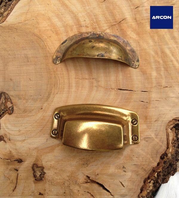 WINOMO Vintage Puerta de rectificador de armario de cocina caj/ón Ring Tirador Tiradores Tiradores 10pcs lat/ón antiguo