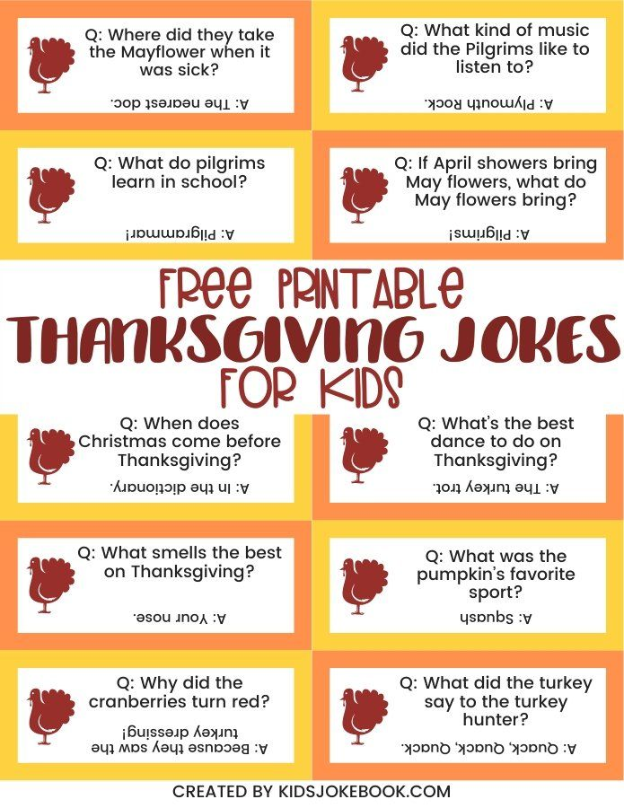 40+ Thanksgiving Jokes and November Jokes • The Simple Parent