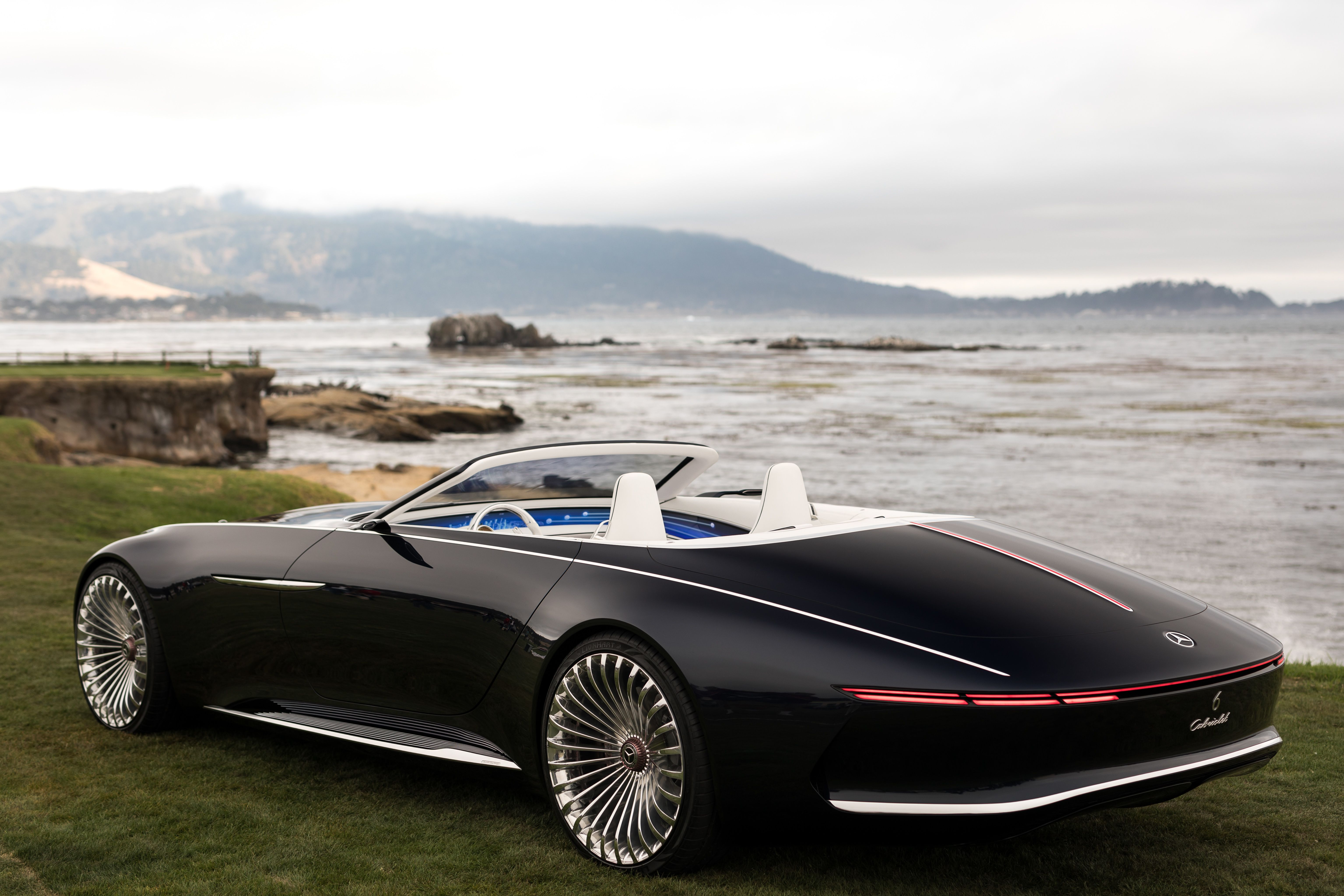 Vision Mercedes Maybach 6 Cabriolet Photographed In Pebble Beach California By Jensen Larson For Mercedes Benz Usa Mercedes Maybach Maybach Cabriolets