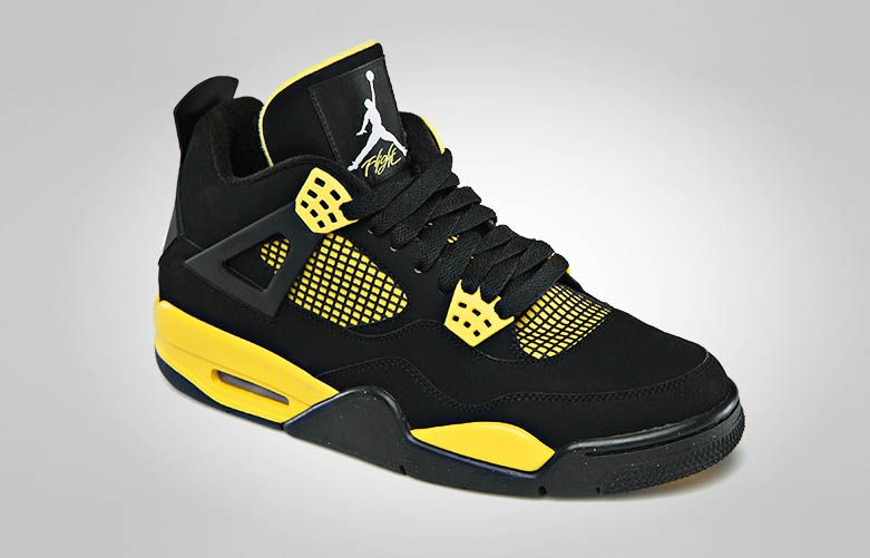 jordan retro 4 black yellow release date
