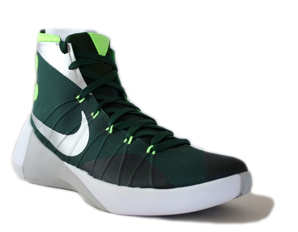 Nike Men's Hyperdunk 2015 TB Basketball Shoes 749645 303 Green/Silver Size  12 #NikeAir