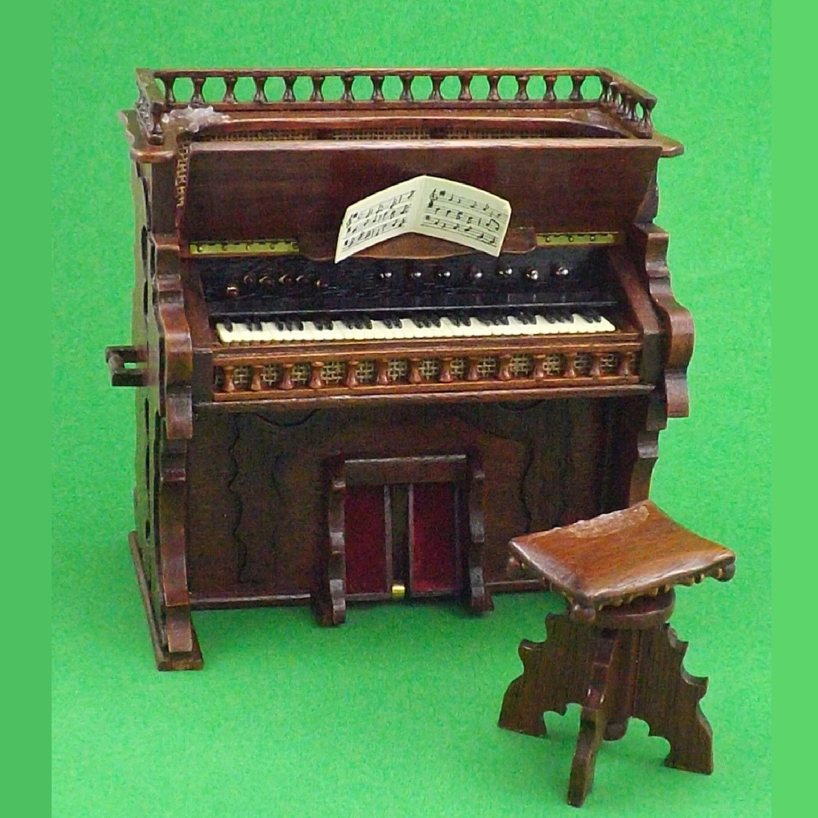 Rose Thomas Collection Miniature Organ Signed J C Lewis 1984 Limited edition 8 of 25 with Stool