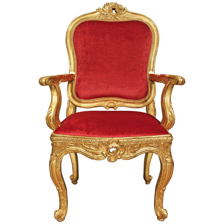 Delightful Italian 18th Century Louis XV Period Giltwood Desk Chair | From A Unique  Collection Of Antique