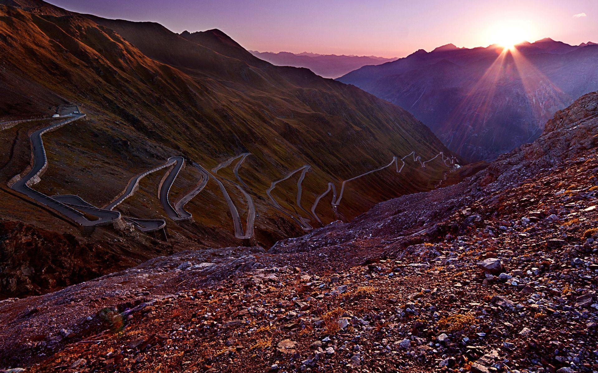 Gmail themes mountains - The Stelvio Pass Italian Passo Dello Stelvio German Stilfser Joch Located In Italy At 2757 M Feet Is The Highest Paved Mountain Pass In The Eastern