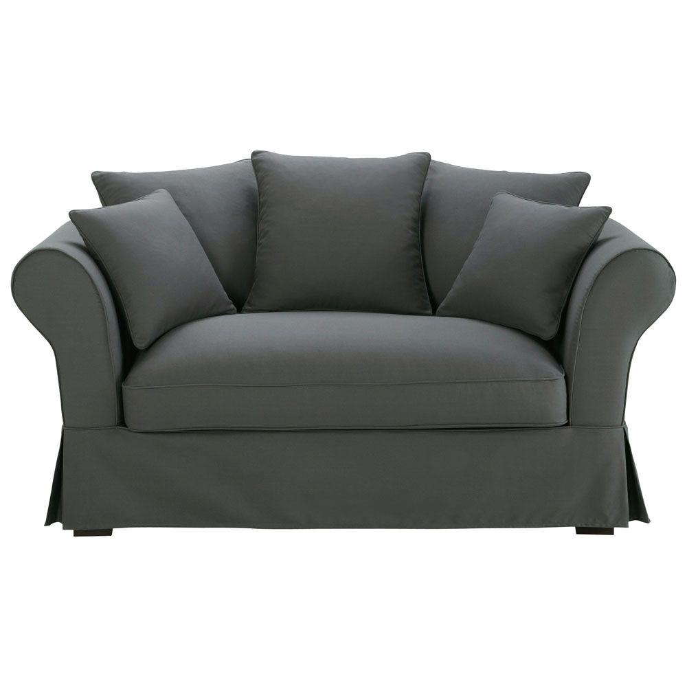 Sofa 2 3 Sitzer Aus Baumwolle Schiefergrau Sofa Schiefer Und Sofas