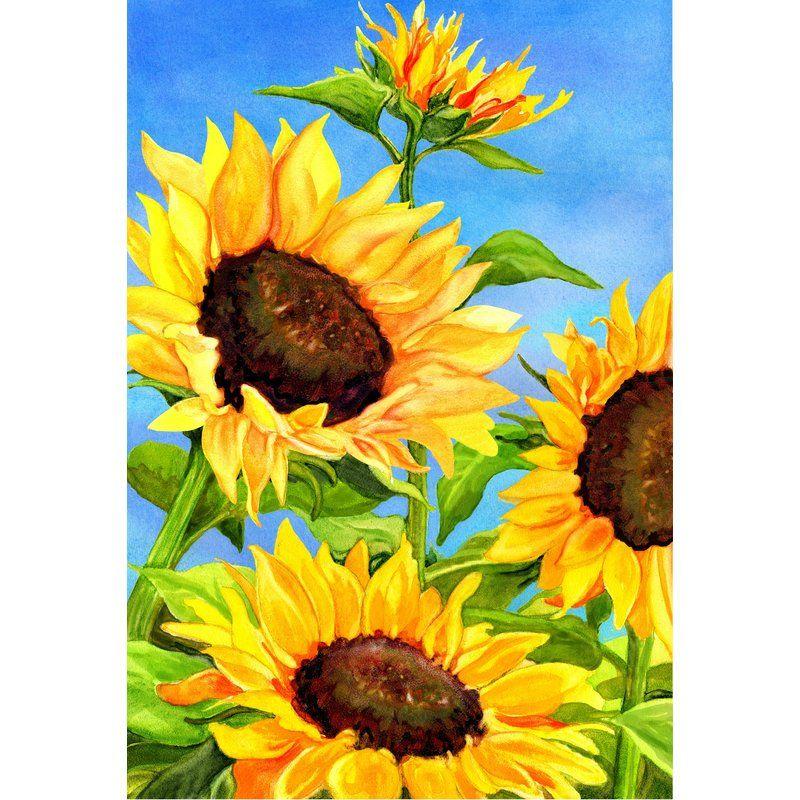 The Cranford Group Sunflowers Garden Flag Wayfair Ca Sunflower Painting Sunflower Art Sunflower Artwork