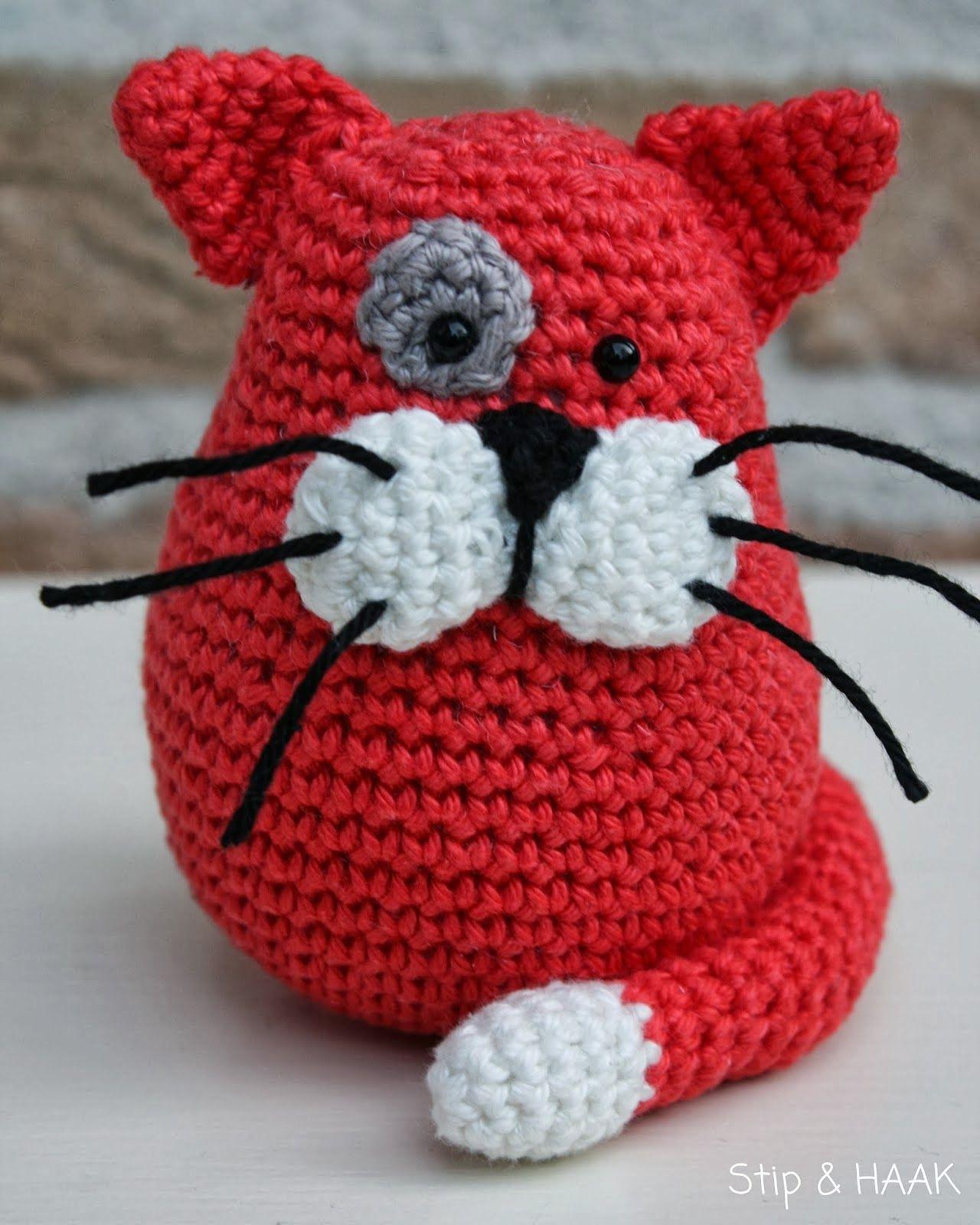 Toby die Katze - Kostenlose Häkelanleitung | Tiere häkeln ... | 1600x1280