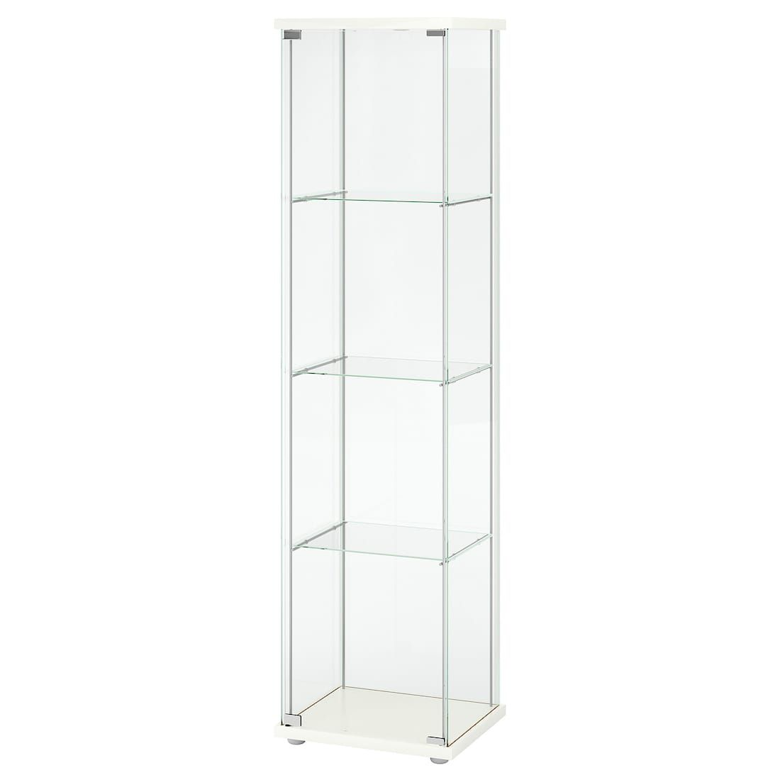 Ikea Detolf White Glass Door Cabinet Bookshelves In 2019