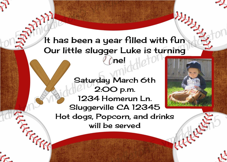 Boys Baseball Birthday Invitation with Photo Option Print Your Own ...