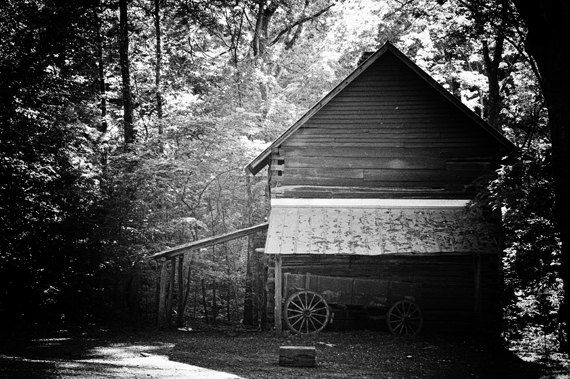 Abandoned Barn Wagon Shed Rural Country Black by sarahaphotography, $24.00