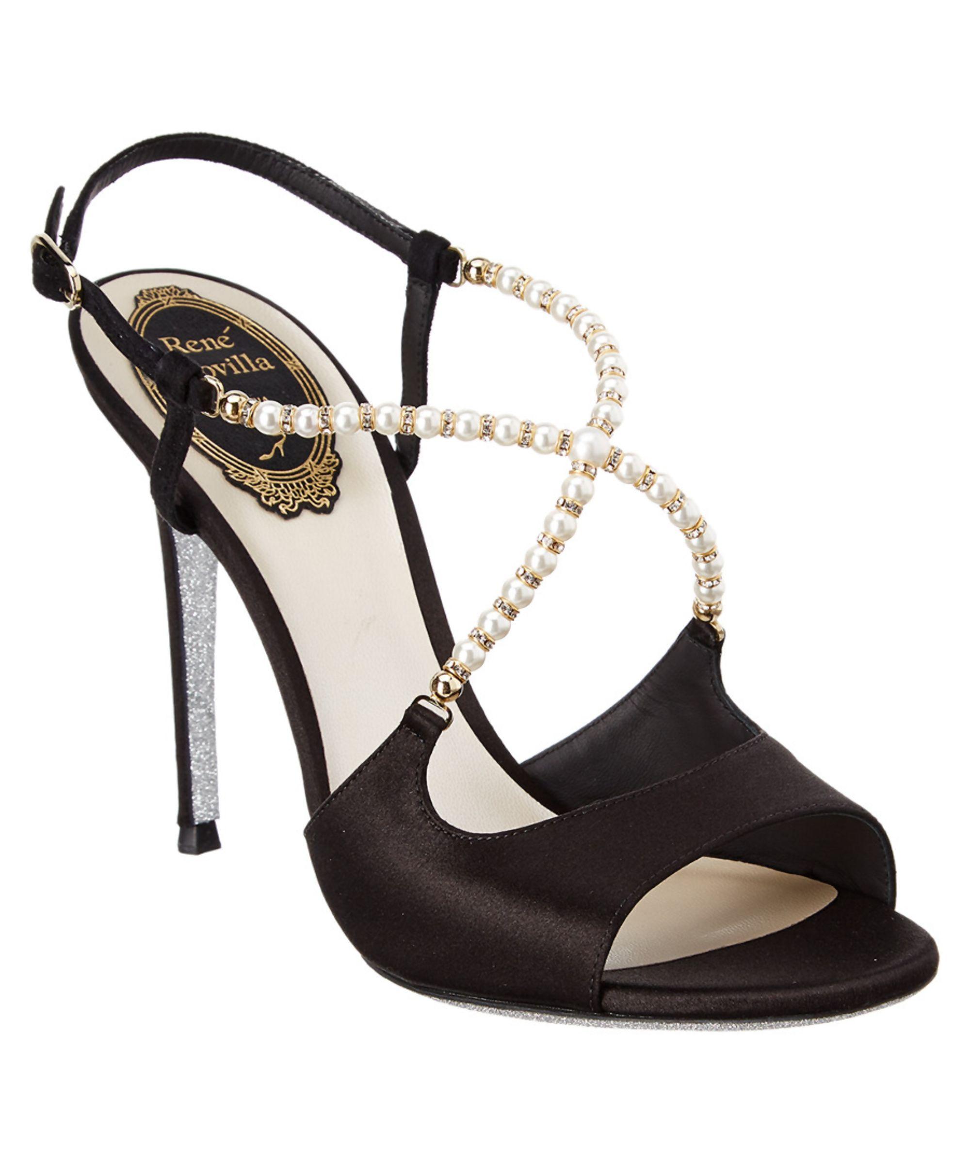 RENE CAOVILLA | Rene Caovilla Embellished Satin Sandal #Shoes #Sandals #RENE  CAOVILLA