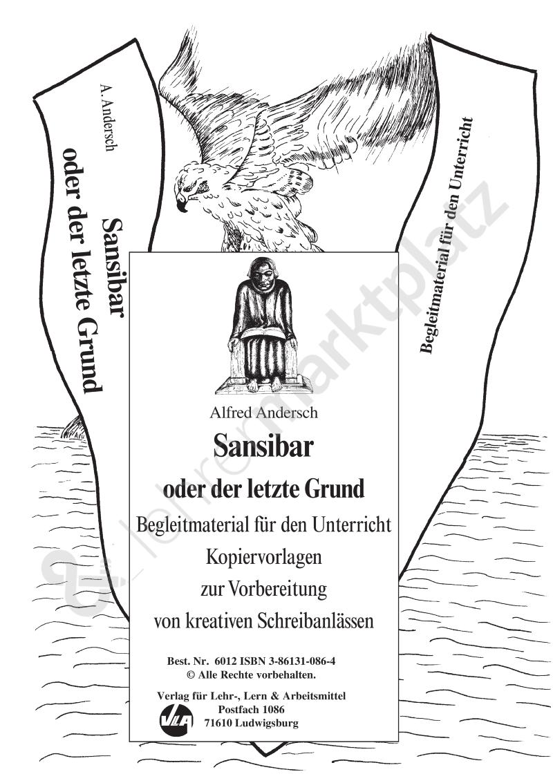 Sansibar Oder Der Letzte Grund Unterrichtsmaterial Im Fach Deutsch Unterrichtsmaterial Schreibprozess Unterrichtseinheiten