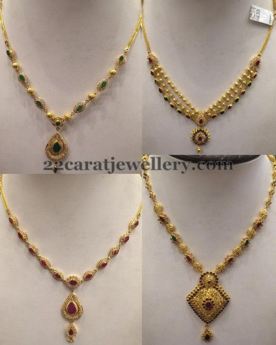 Top 25 Indian Antique Jewellery Designs For Women: Simple Necklaces 10 To 15 Grams