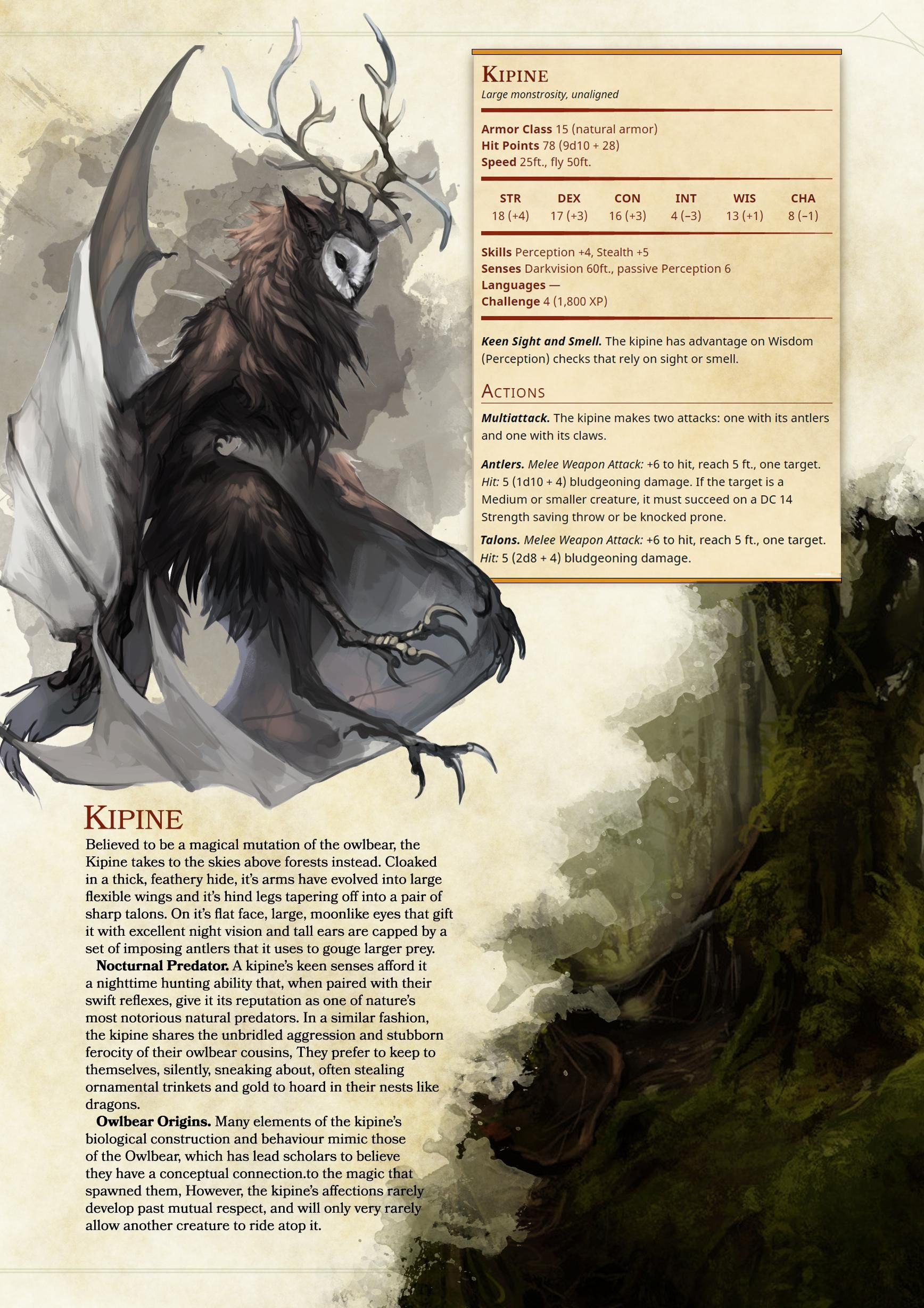 D&D 5e Monster: Kipine in 2019 | Concept Art | Dnd 5e