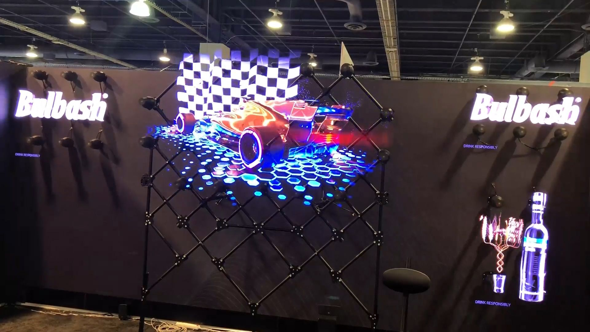 Hypervsn holographic wall of floating video | Floating Video