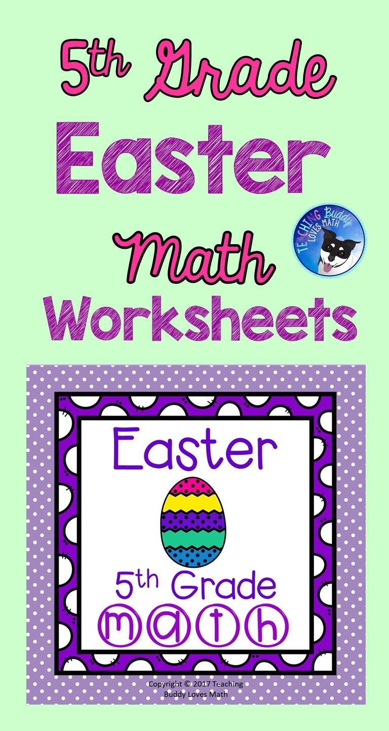 Easter Math Worksheets 5th Grade Common Core   Easter math worksheets [ 1440 x 768 Pixel ]
